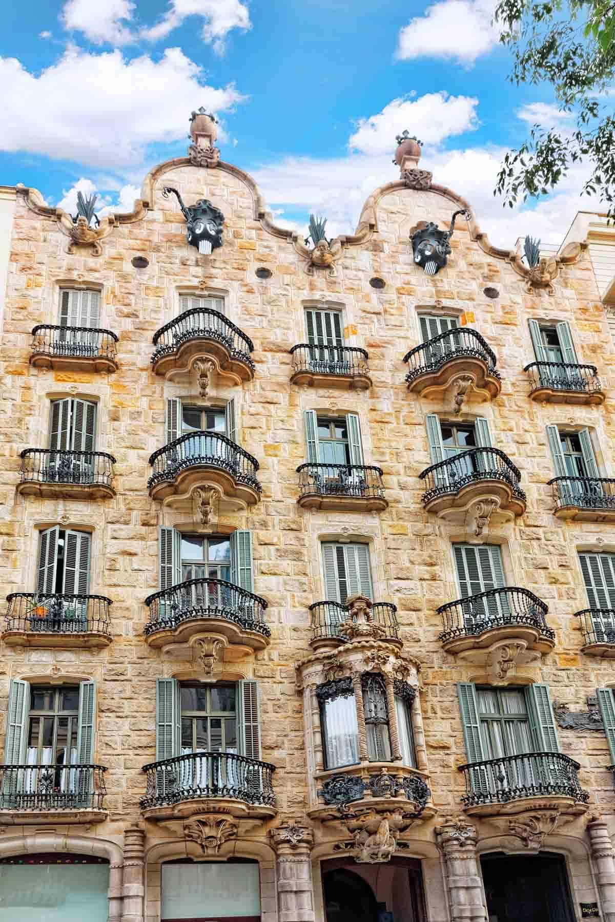 famous buildings in barcelona gaudi buildings and architecture casa calvet