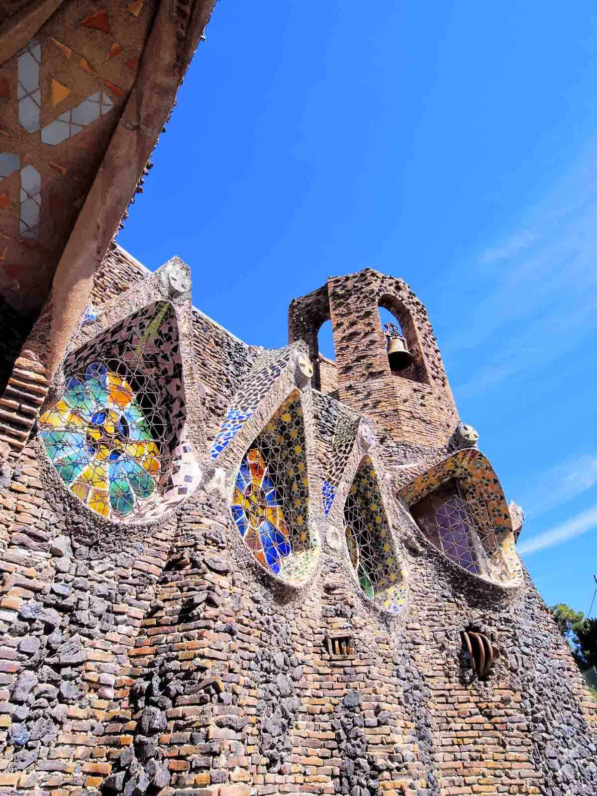 famous buildings in barcelona gaudi buildings and architecture church of colonia guell