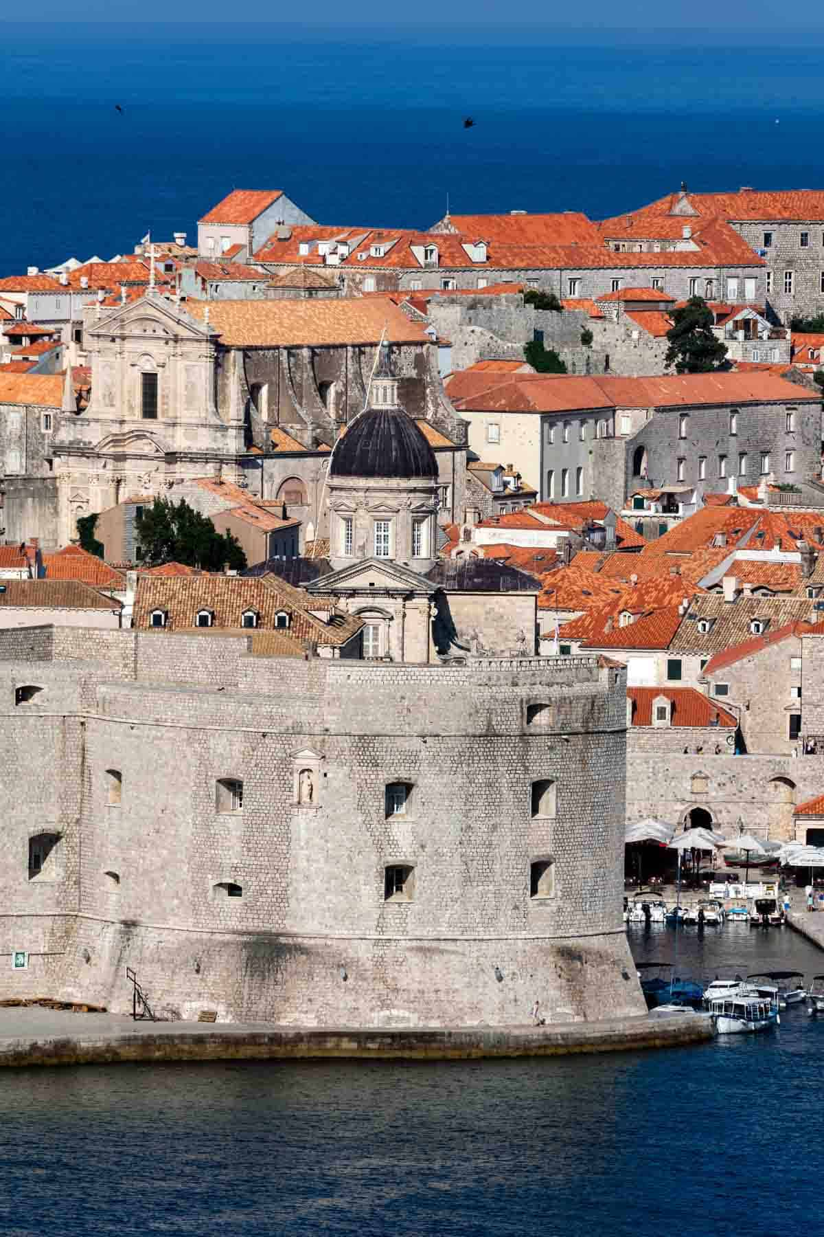 man-made structures in europe walled city of dubrovnik