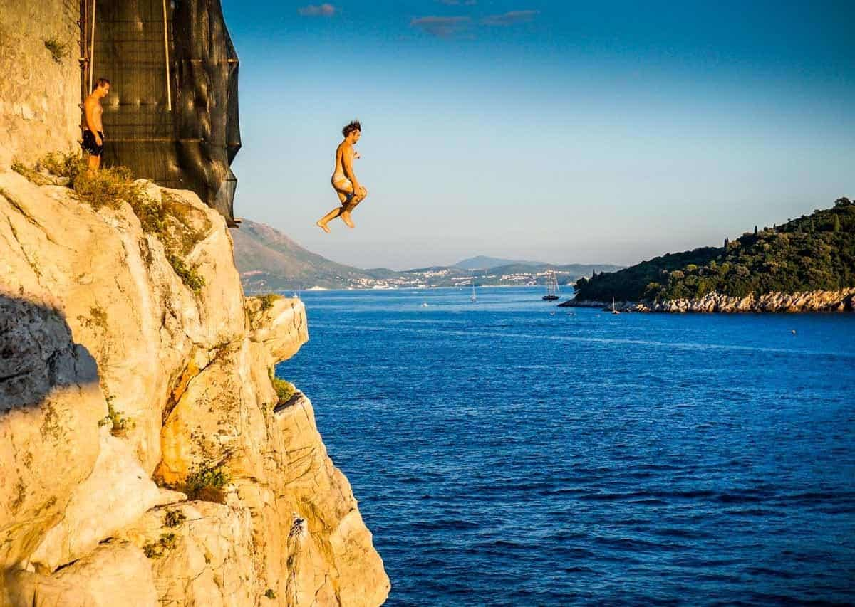 top tourist attractions in dubrovnik croatia cliff jumping