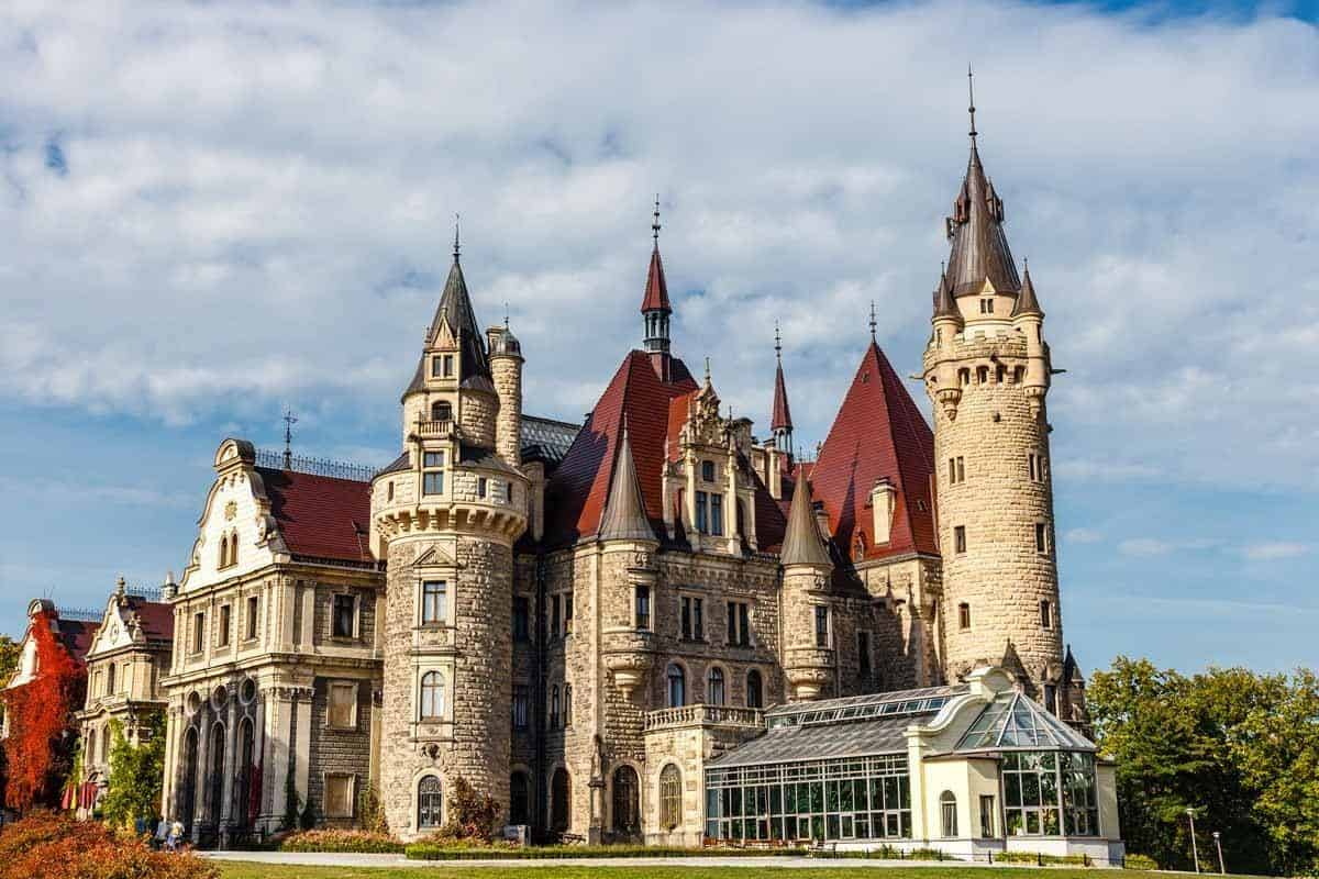 castles in poland moszna castle