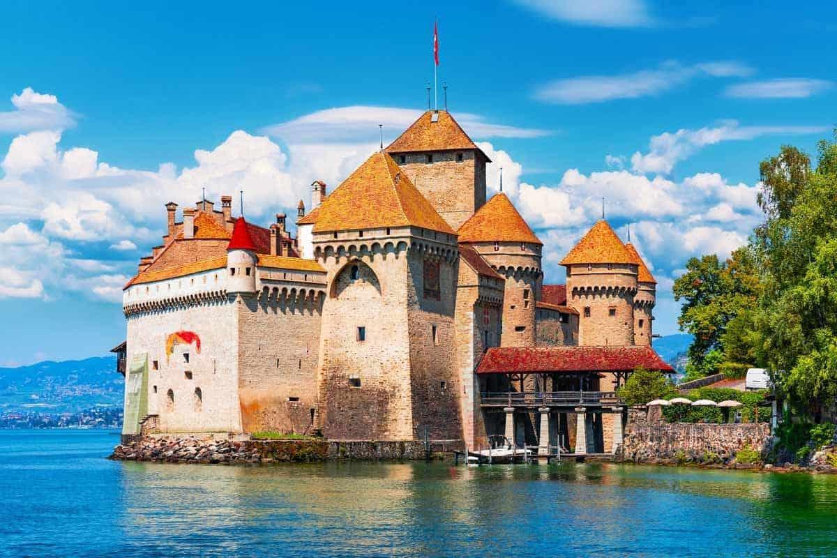 castles in switzerland chillon castle