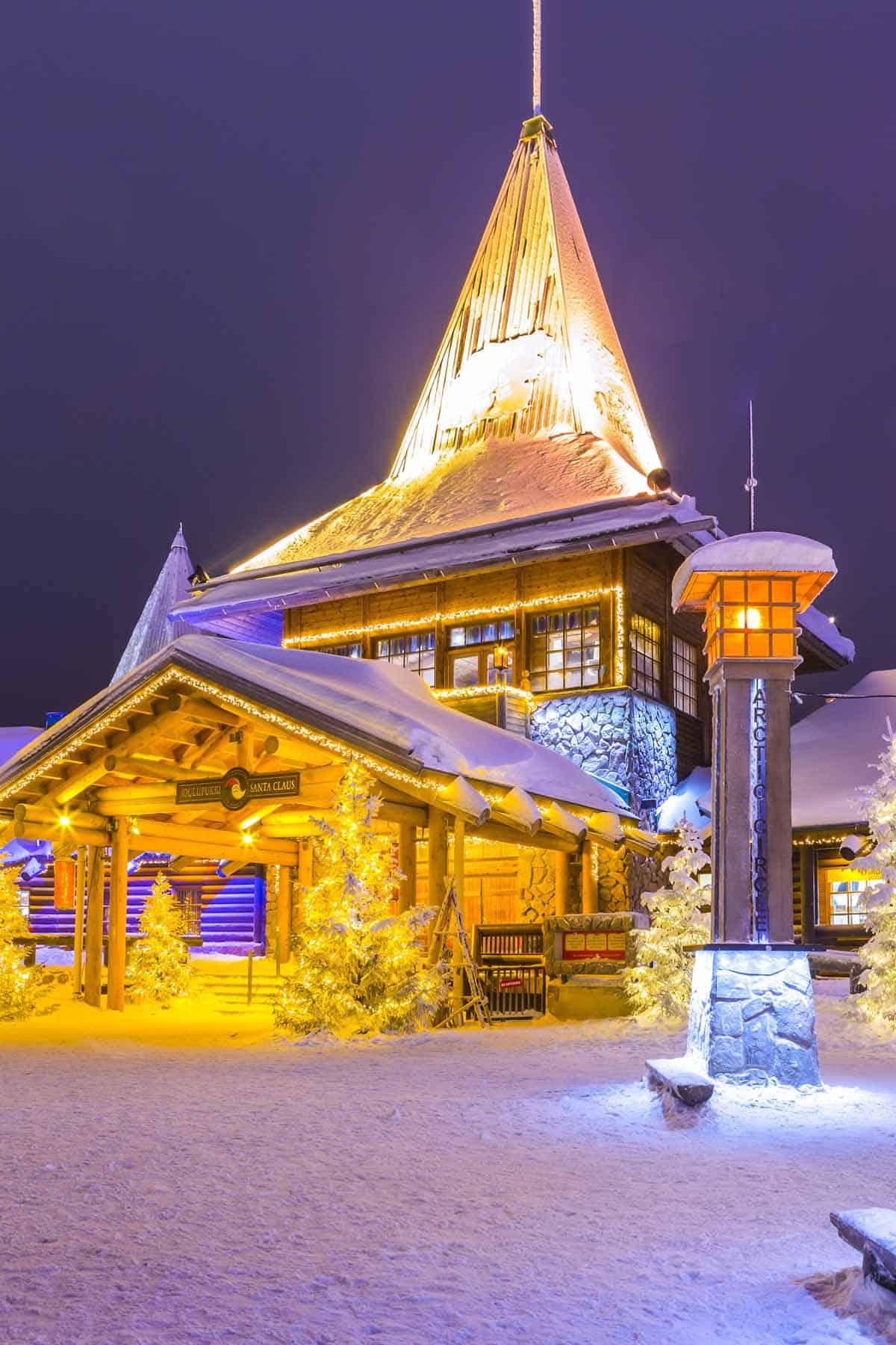europe bucket list unusual places santa claus village lapland finland