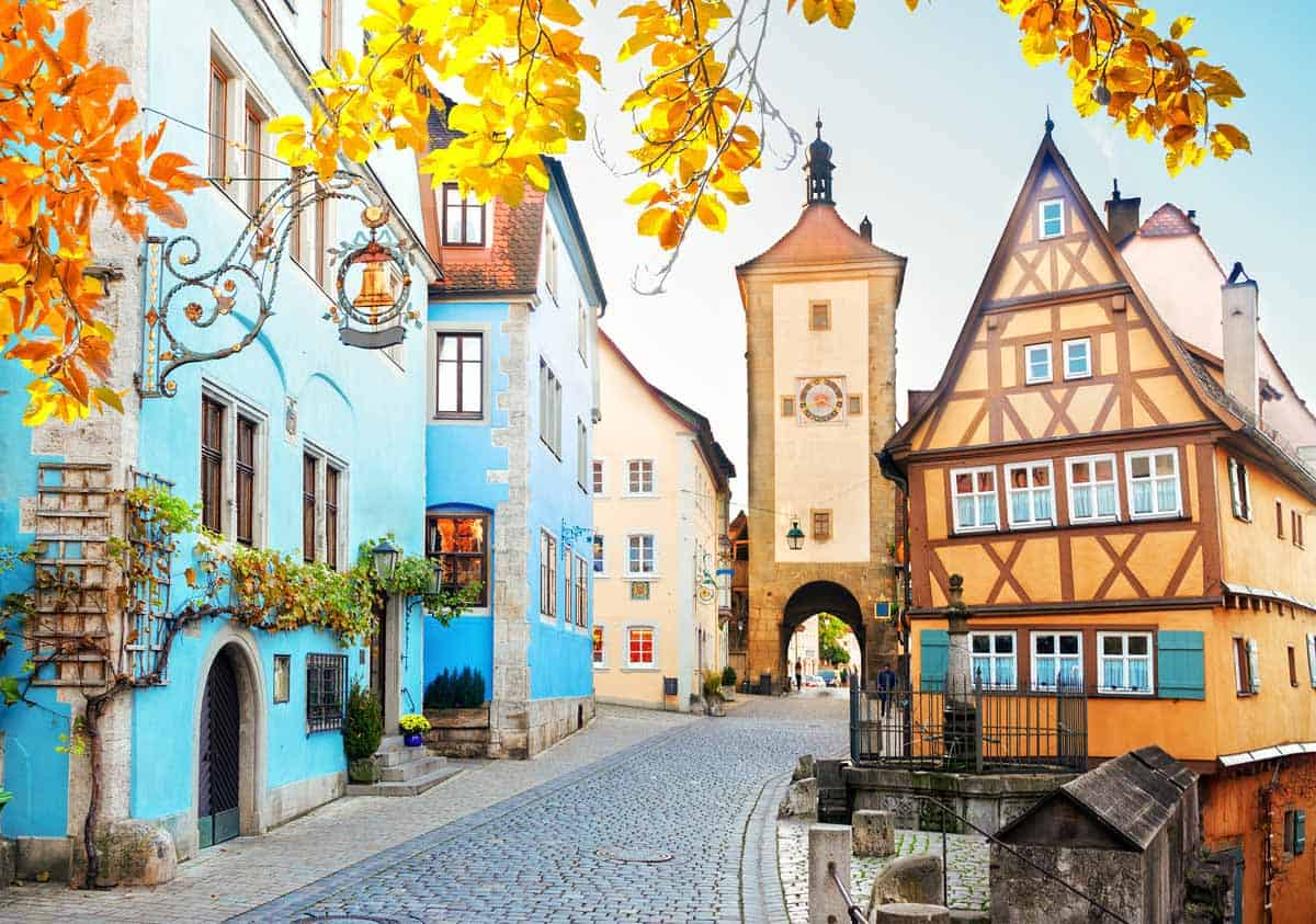 medieval towns in europe rothenburg germany