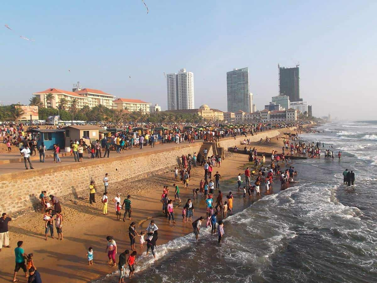 Capital city of Sri Lanka, Colombo.