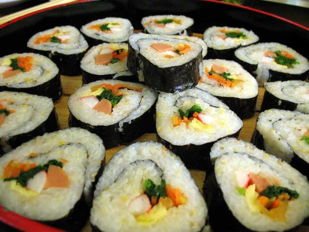 Korean food Kimbap