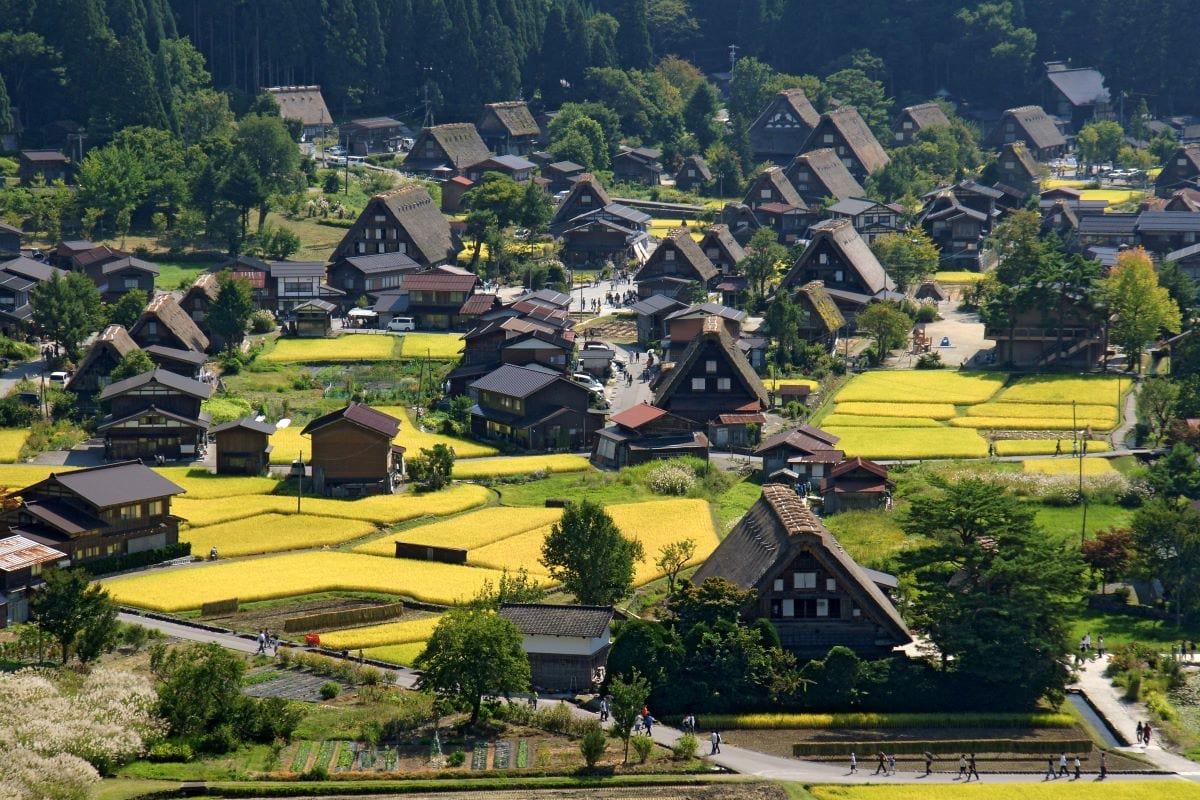 Ogi Shirakawa go Gifu Japan
