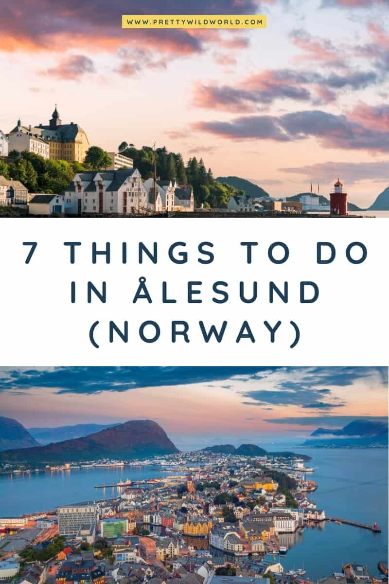 Looking for places to travel to in Norway? Here are the top things to do in Ålesund where you can see fjords, beatiful architecture, and art nouveau. That's your Norway in a nutshell for your Norway vacation! #alesund #norway #europe #traveldestinations #traveltips #bucketlisttravel #travelideas #travelguide #amazingdestinations #traveltheworld