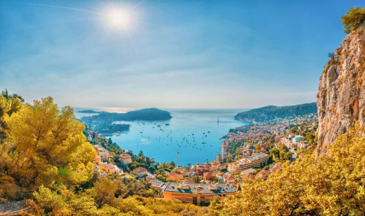 French Riviera coast Villefranche sur Mer Nice region France
