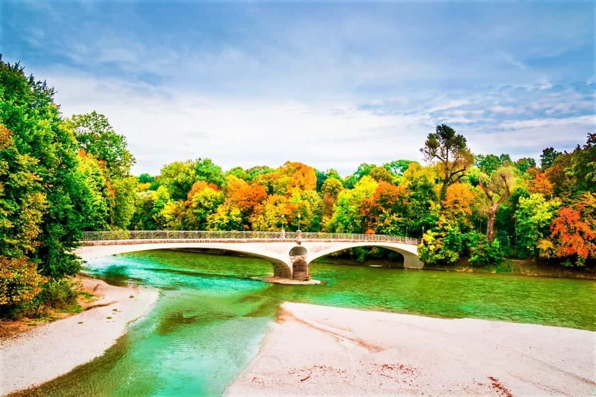 Isar River Munich Germany