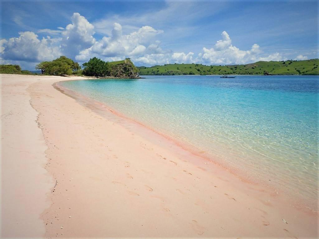 Pink Beach Komodo Island, Bali indonesia
