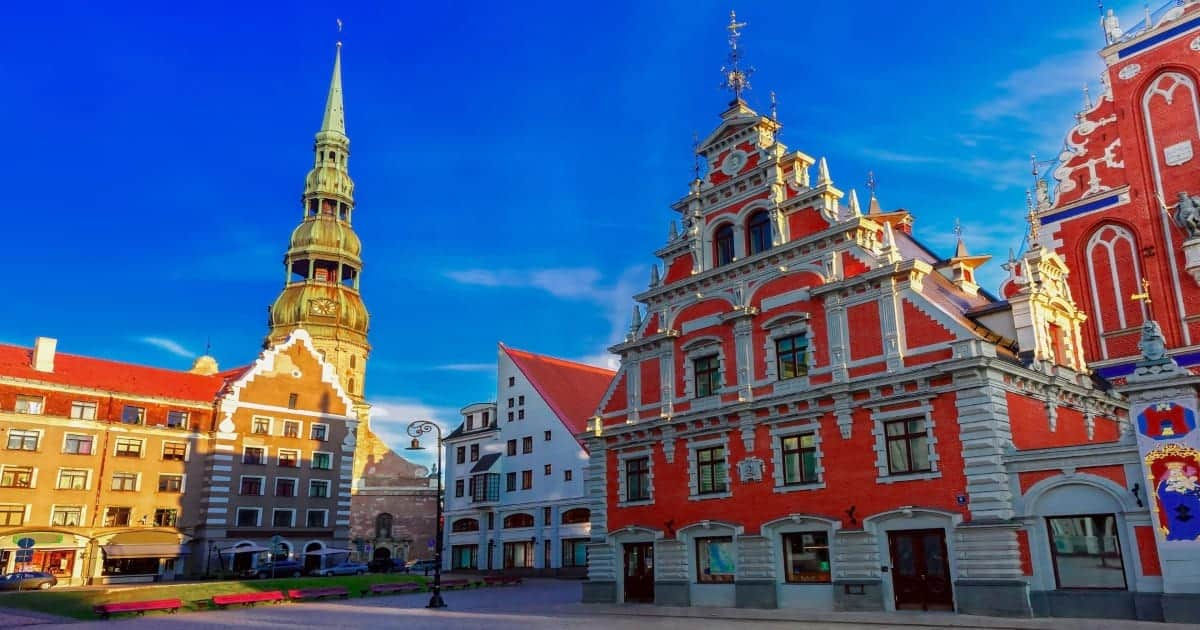 City Hall Square Old Town of Riga Lativia