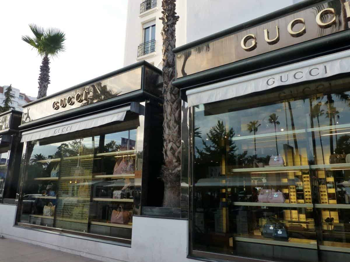 GUCCI stiore in Cannes France