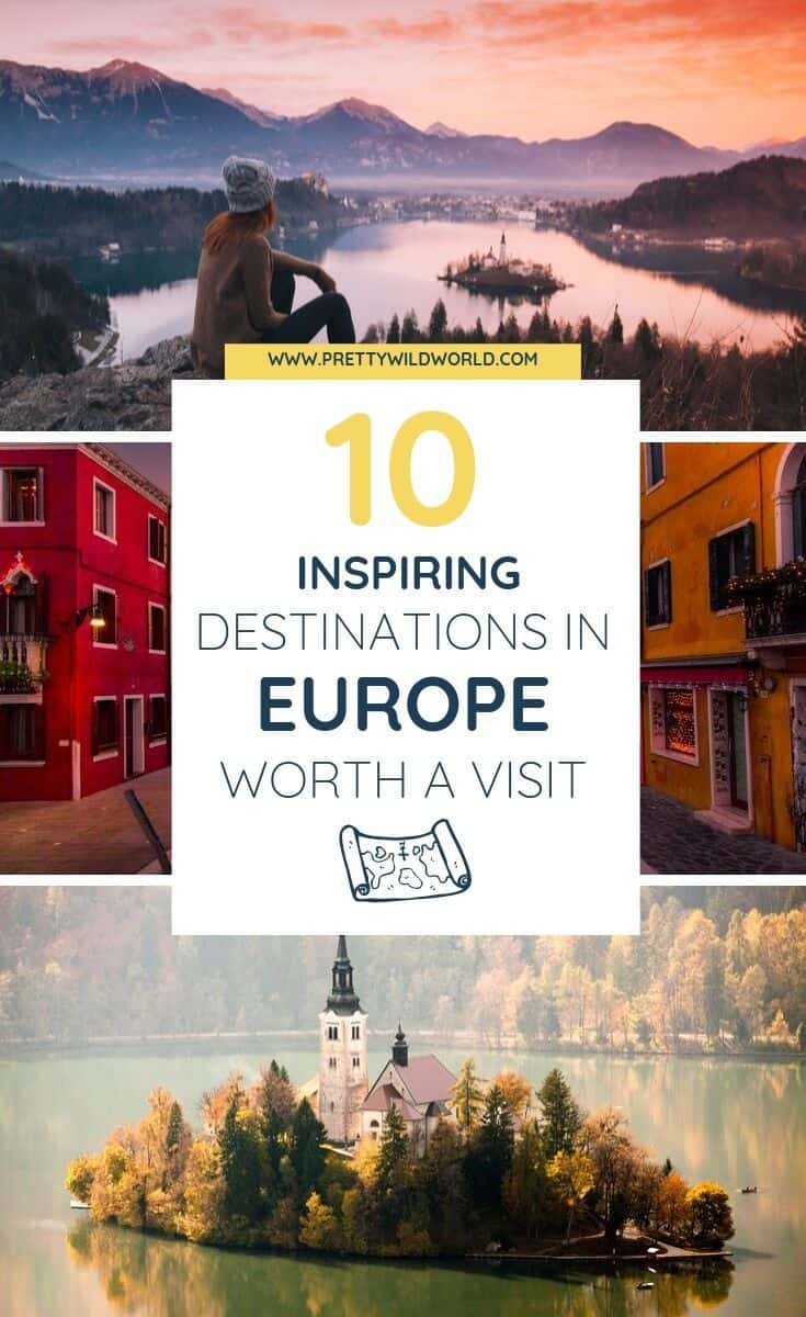 Inspiring destinations in Europe | Looking to add more places to visit in your travel bucket lists? Wether it be summer, autumn, winter, or spring these inspiring destinations are always worth a visit! Either it is for cheap backpacking or luxury trip. Read it now or pin it for later read! #traveldestinations #traveltips #bucketlisttravel #travelideas #travelguide #amazingdestinations #traveltheworld