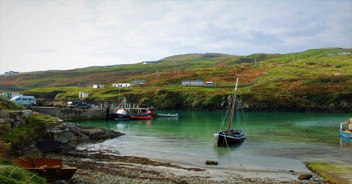 Harbour in Inishturk island