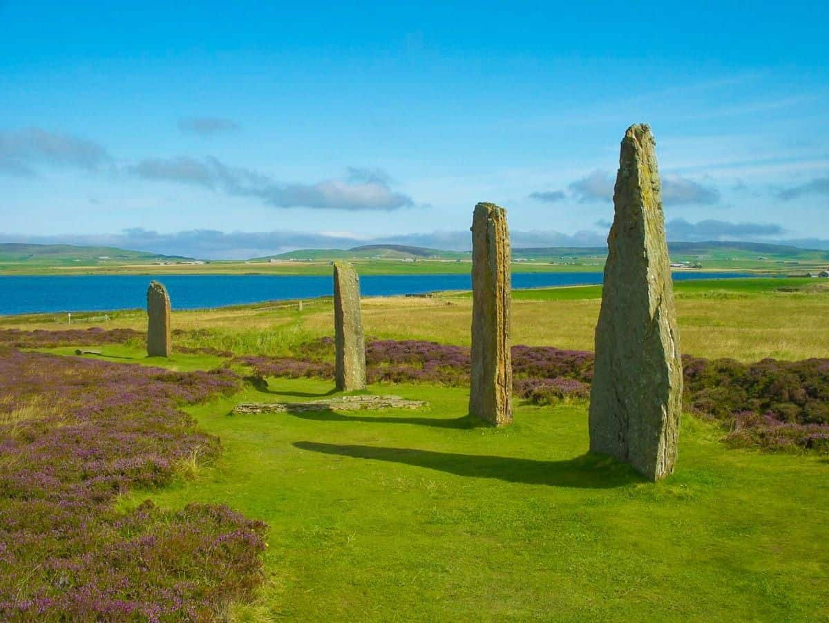 Ring of Brodgar in Orkney Island