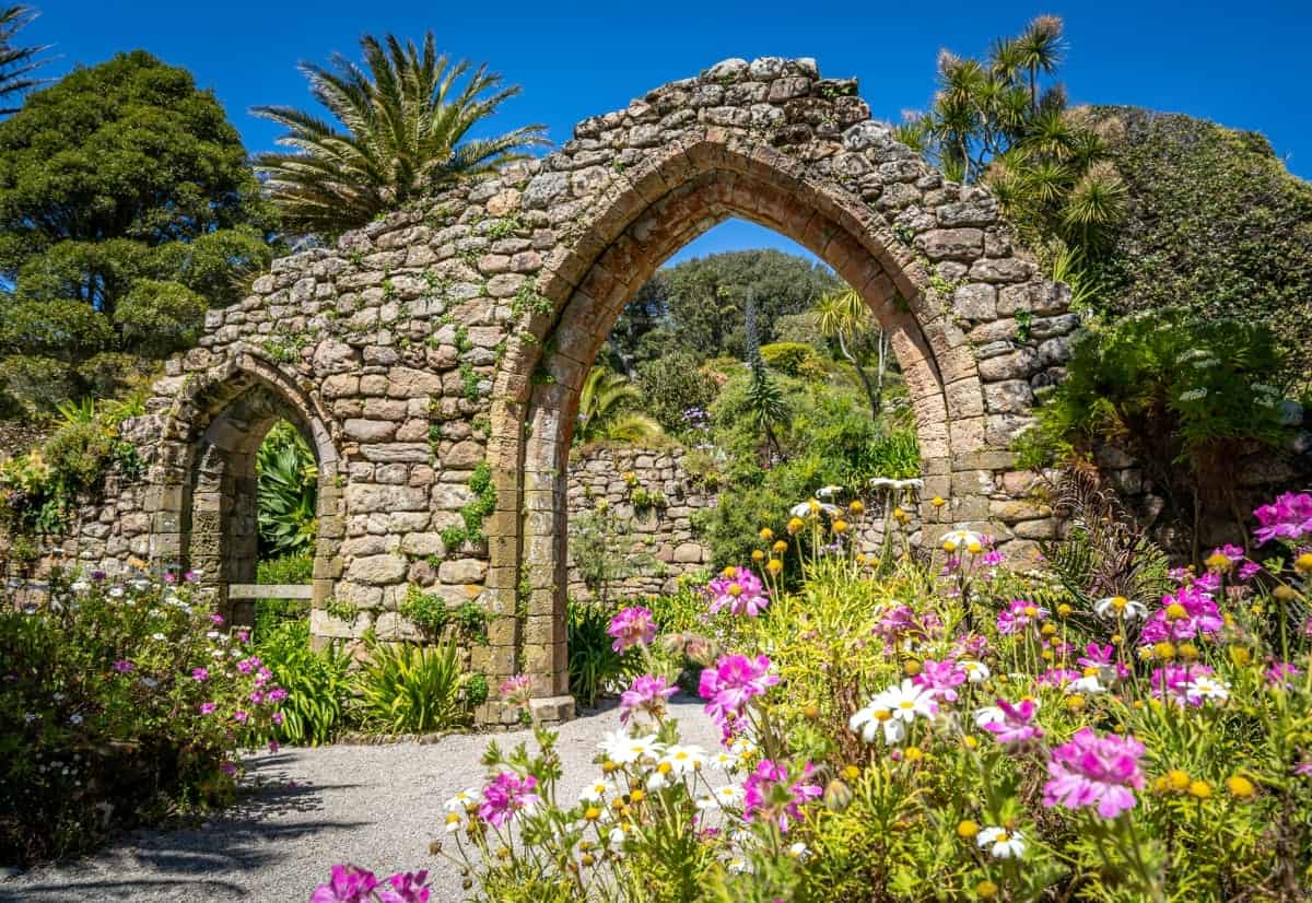 old abbey on Tresco Isle of scilly