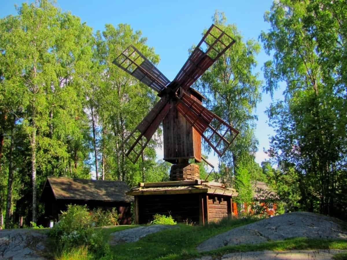 Old wooden mill in Seurasaari Helsinki