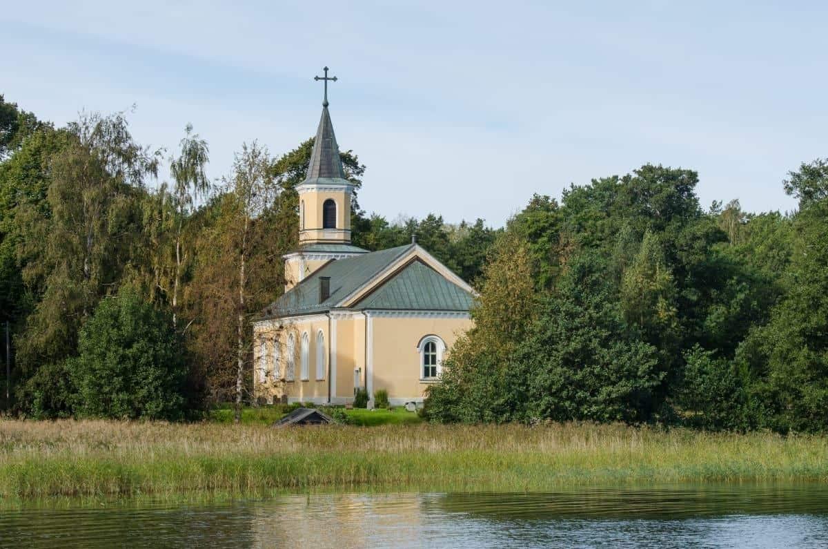 Utö Church in Utö Island