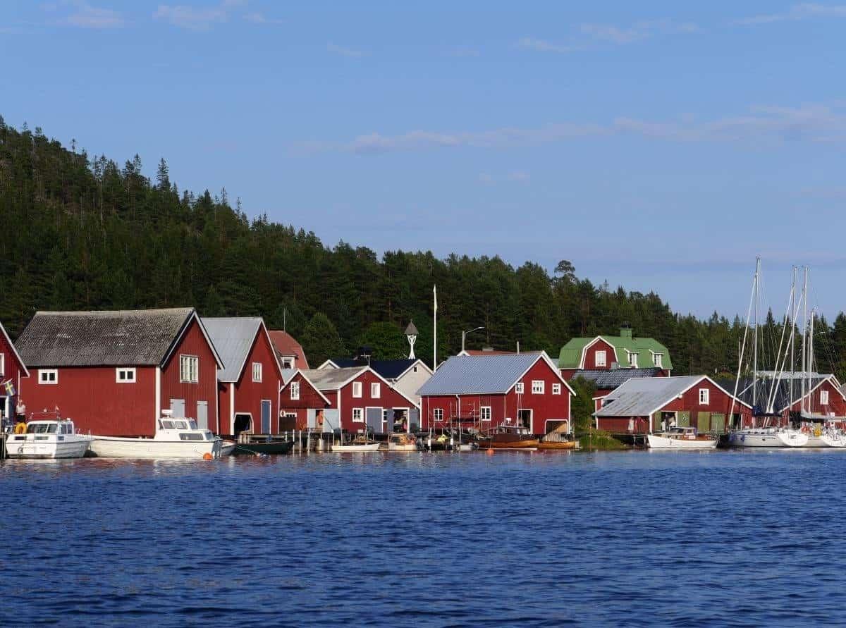 Swedish village in Trysunda