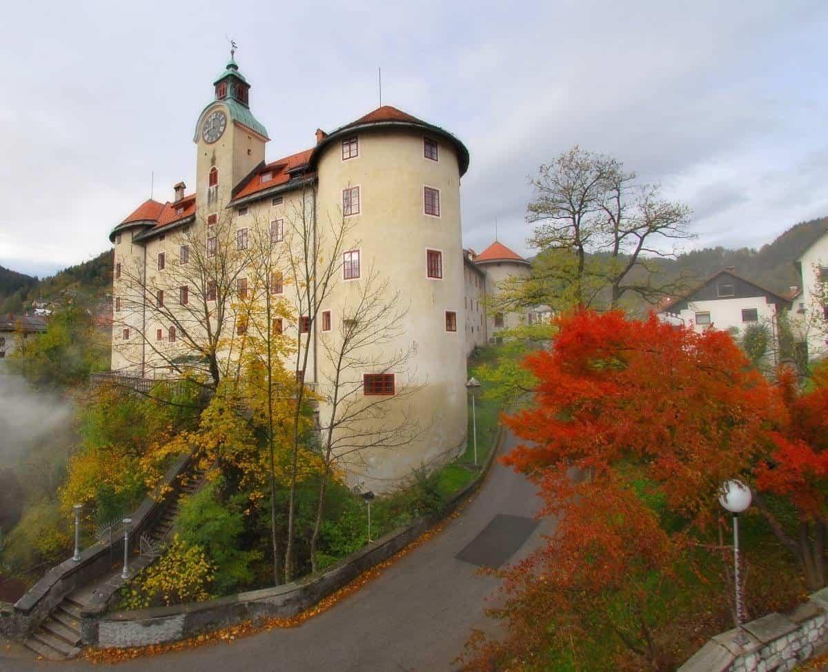 Gewerkenegg castle in Idrija Slovenia