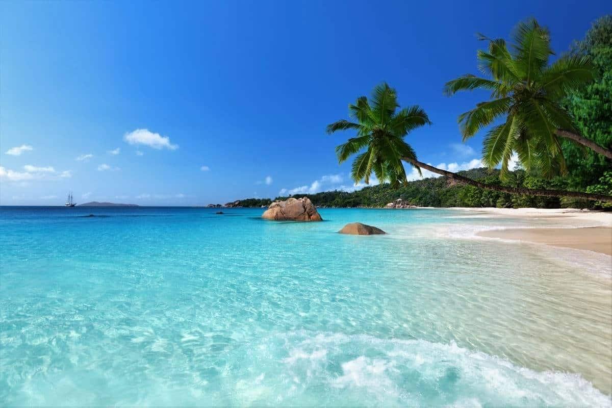 Anse Lazio beach at Praslin island Seychelles Africa