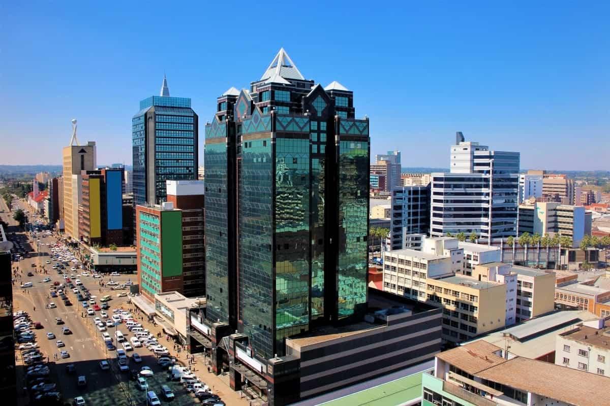 Harare in Zimbabwe Africa