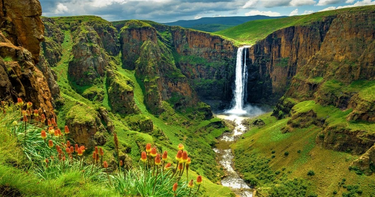 Maletsunyane Falls in Lesotho Africa