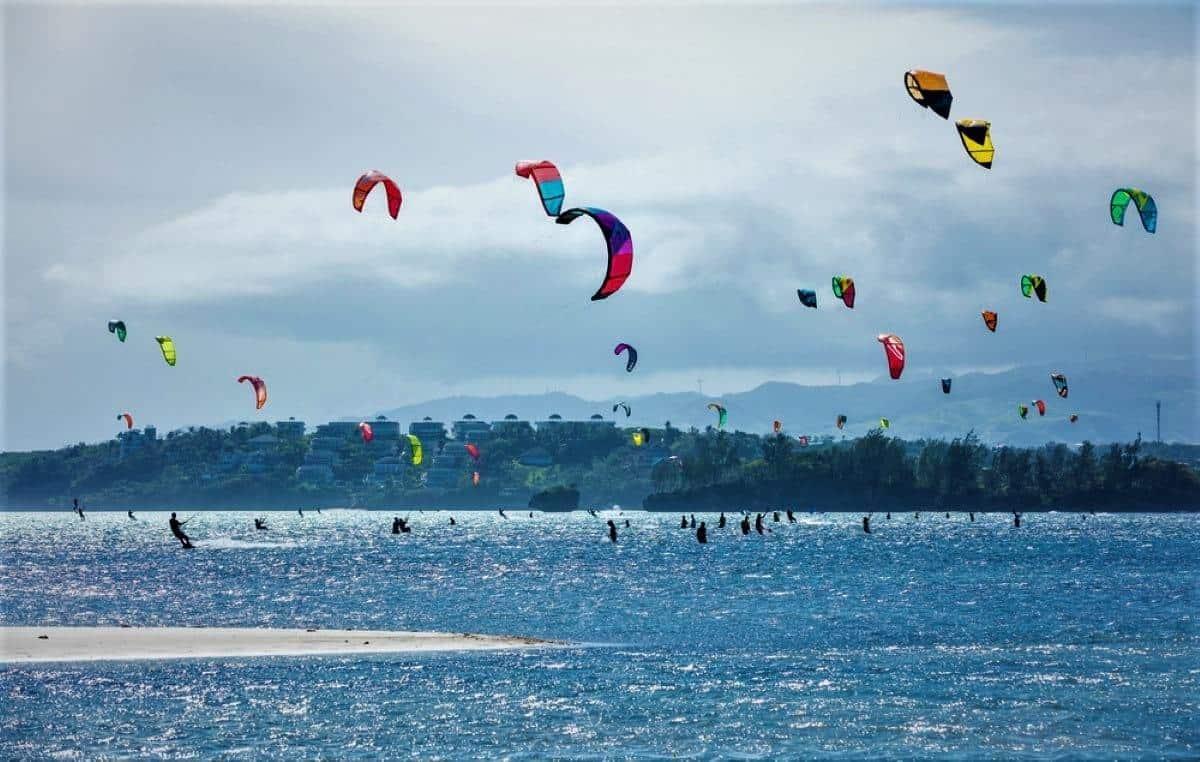 Kite Surfing on Bulabog Beach