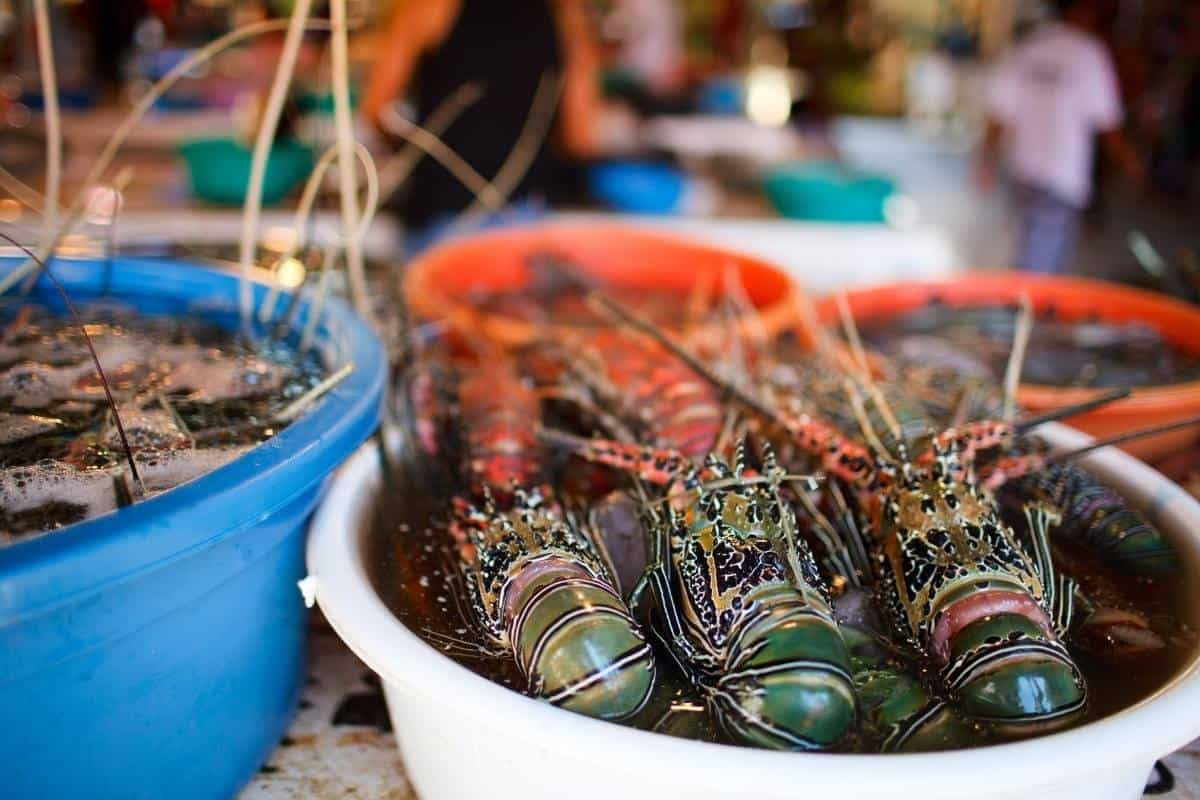 Seafoods market in boracay