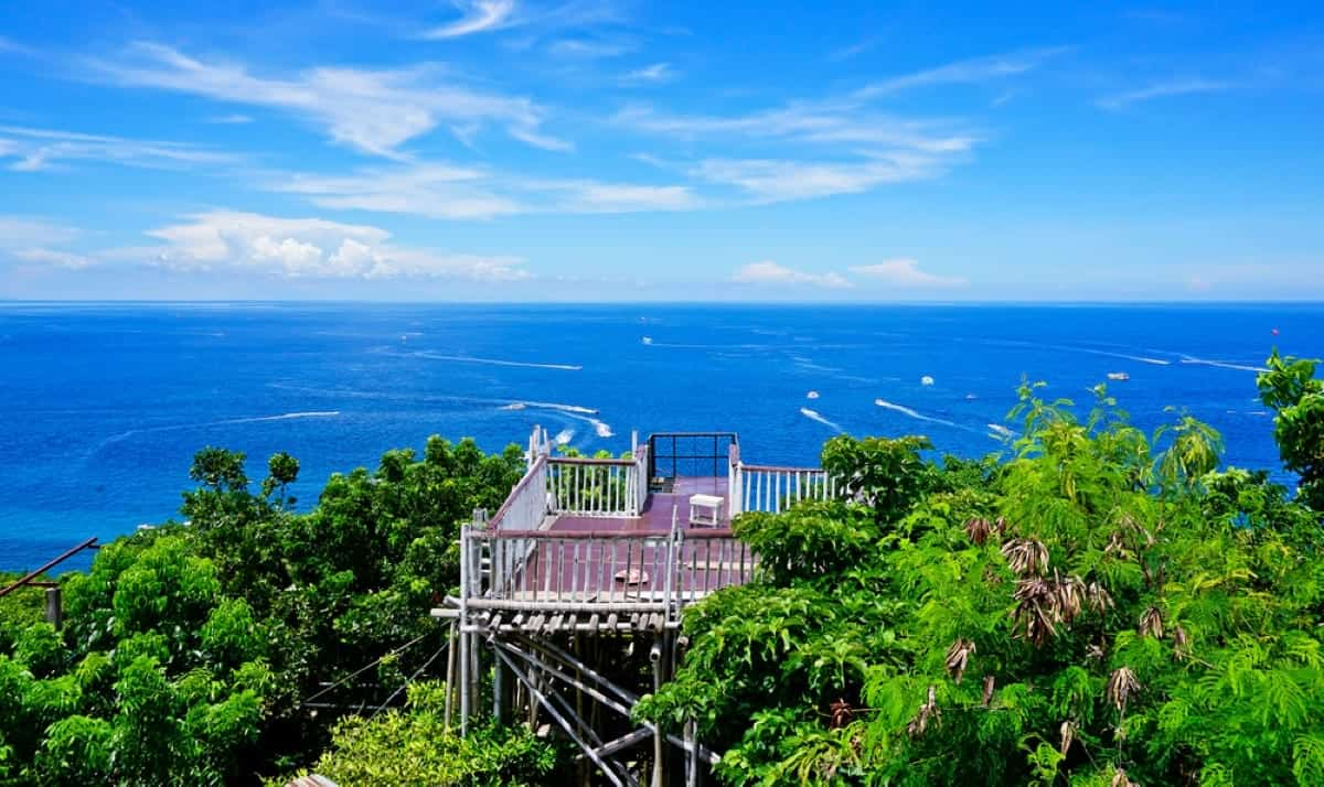 The view from Mt Luho Boracay
