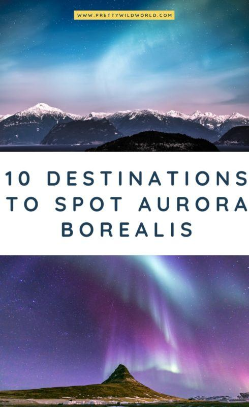 Northern Lights Destinations | Aurora Borealis is a natural phenomenon happening at certain times of the year. It can happen in Canada, Iceland, Norway, and the Alaskan area. Read this post now to learn more about this spectacular thing and be amazed at the photography. #traveldestinations #traveltips #bucketlisttravel #travelideas #travelguide #amazingdestinations #traveltheworld #auroraborealis #northernlights