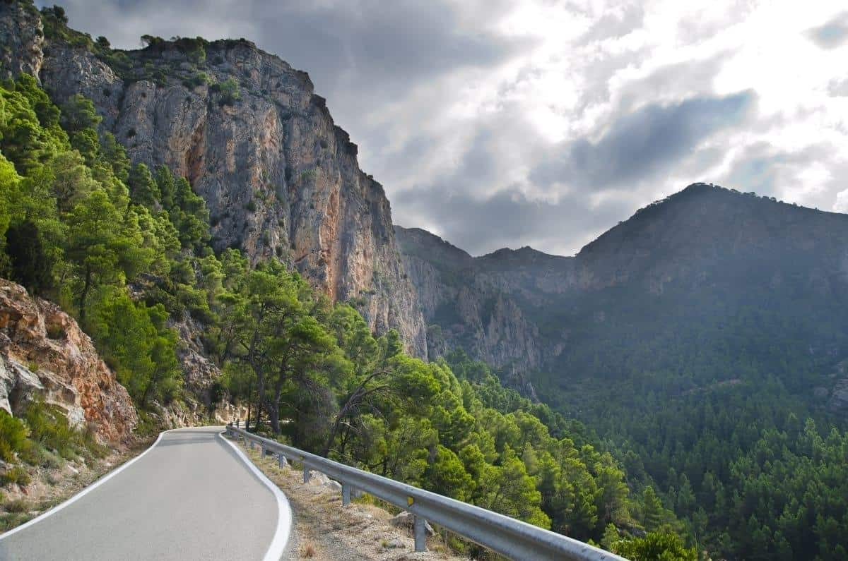 Mountain road Catalonia Spain