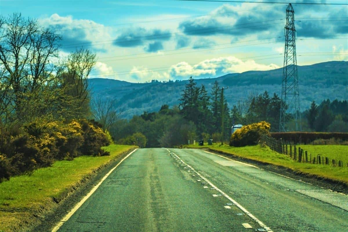 Road to Inverness Scotland