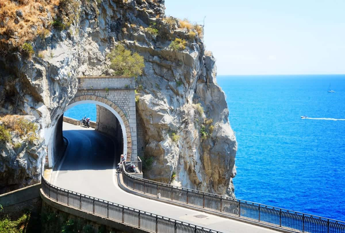 road of Amalfi coast Italy