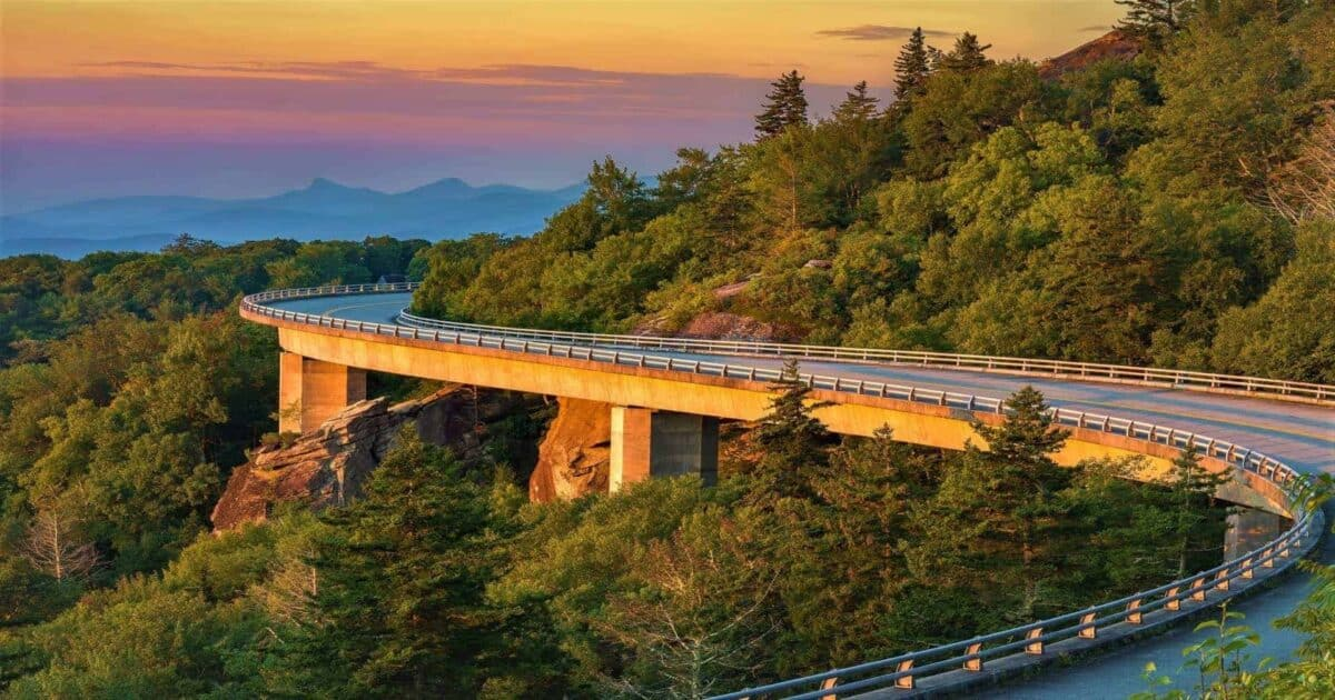 Blue Ridge Parkway in North Carolina