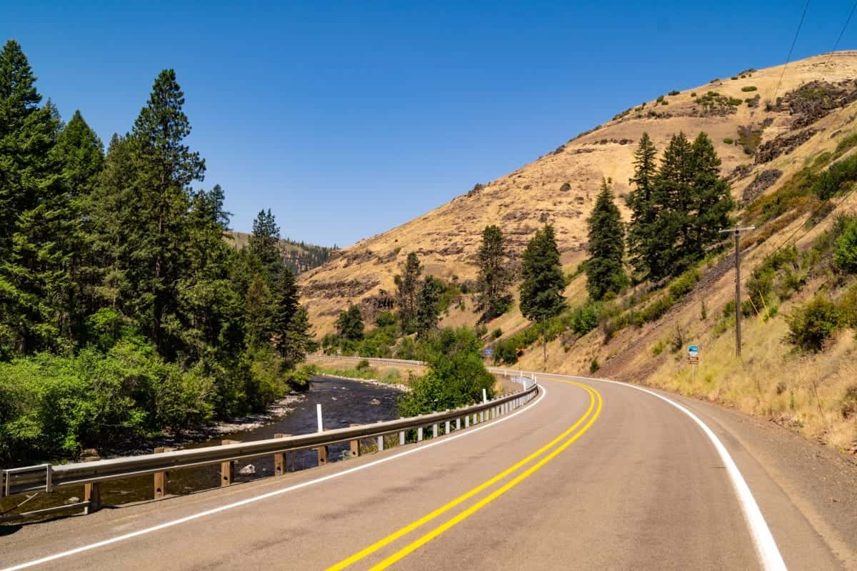 Hell's Canyon Scenic Byway in northeastern Oregon