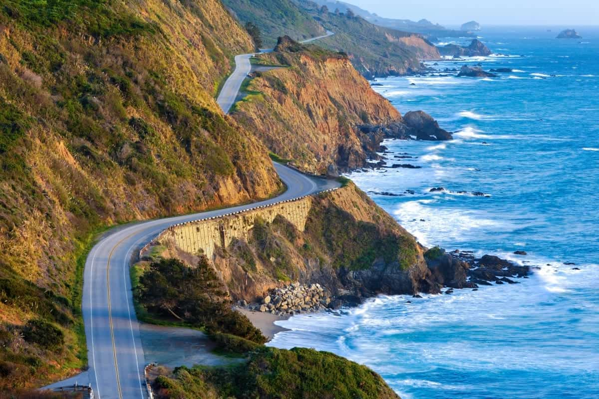 Pacific Coast Highway at southern end of Big Sur California