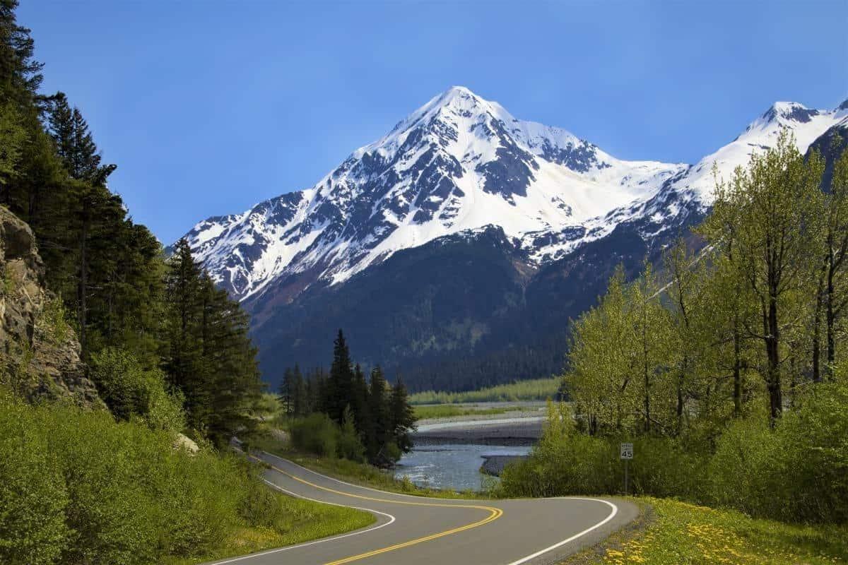 Winding Roads Through Alaska Mountains