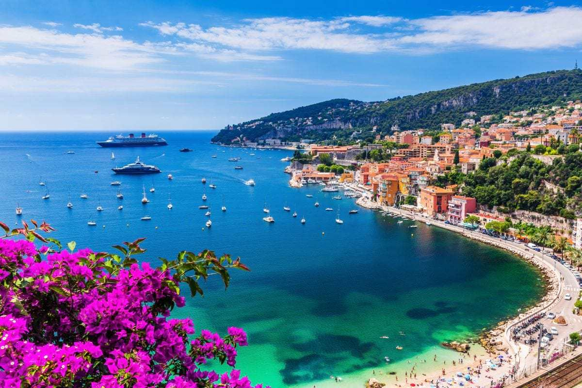 Villefranche sur Mer France seaside town on the French Riviera