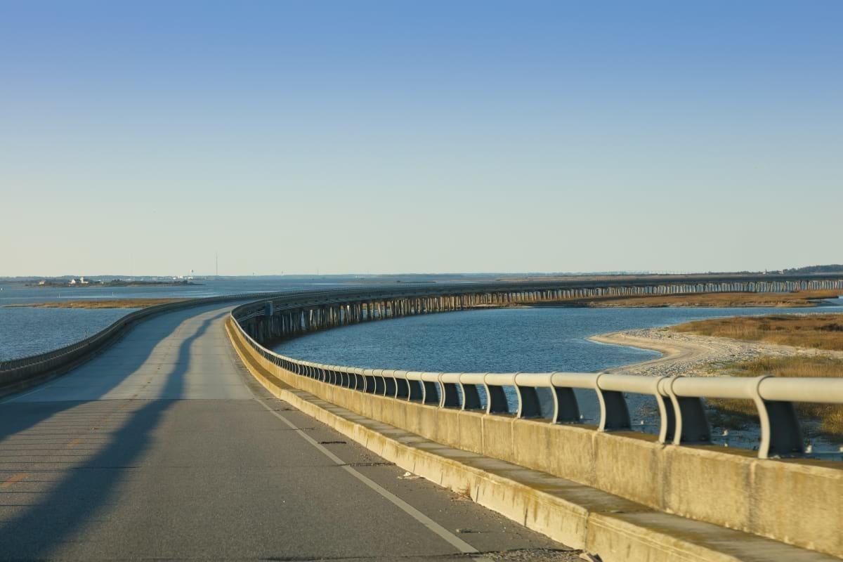 Bridge in Outer Banks of North Carolina