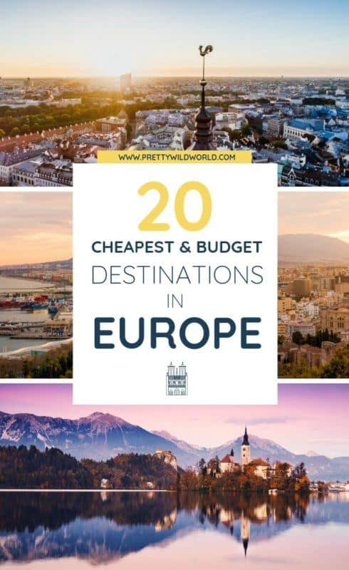 Cheap destinations in Europe | Looking for tips on how to travel Europe on a budget? Here are some hacks and ideas for you! #traveldestinations #traveltips #bucketlisttravel #travelideas #travelguide #amazingdestinations #traveltheworld