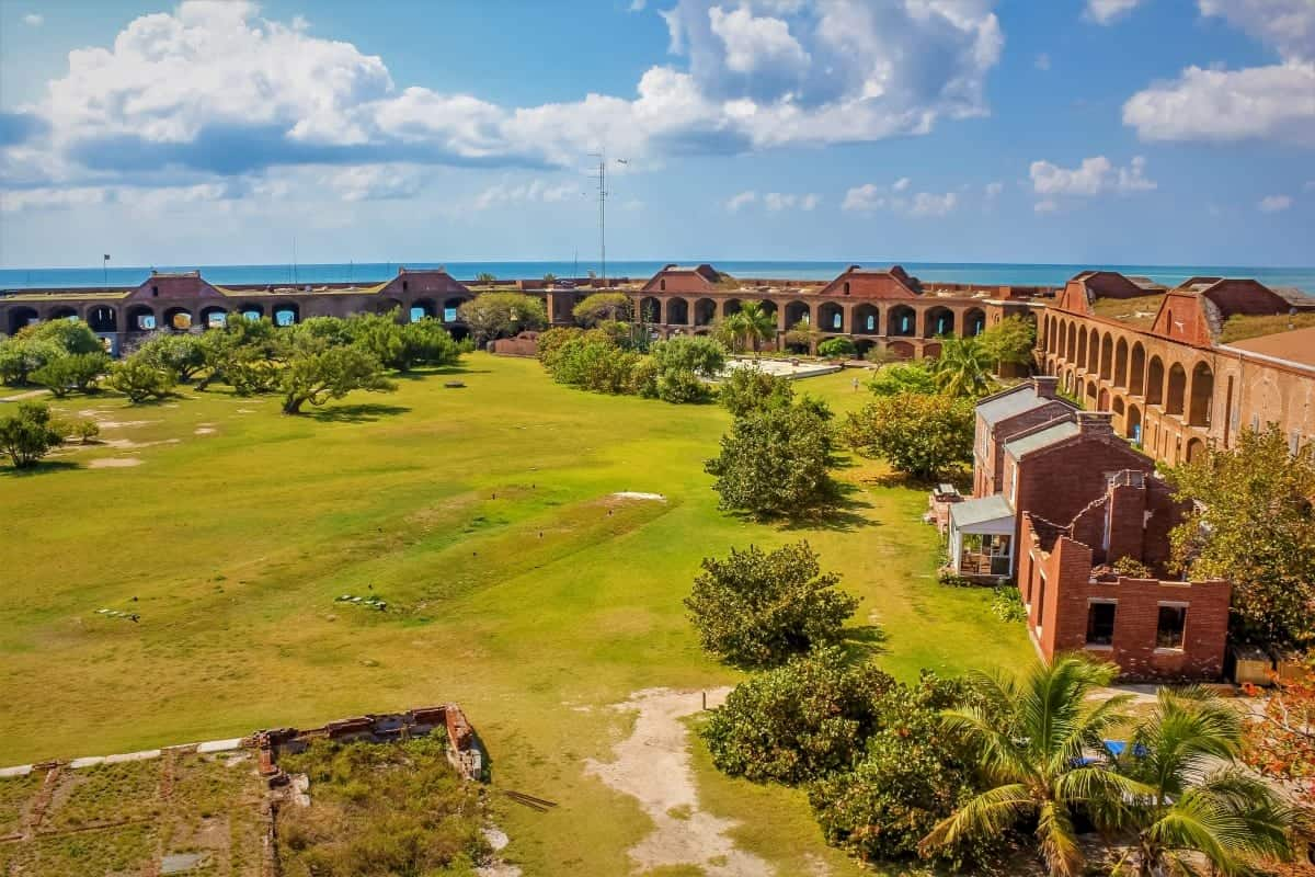 Courtyard of Fort Jefferson in Dry Tortugas National Park, Florida