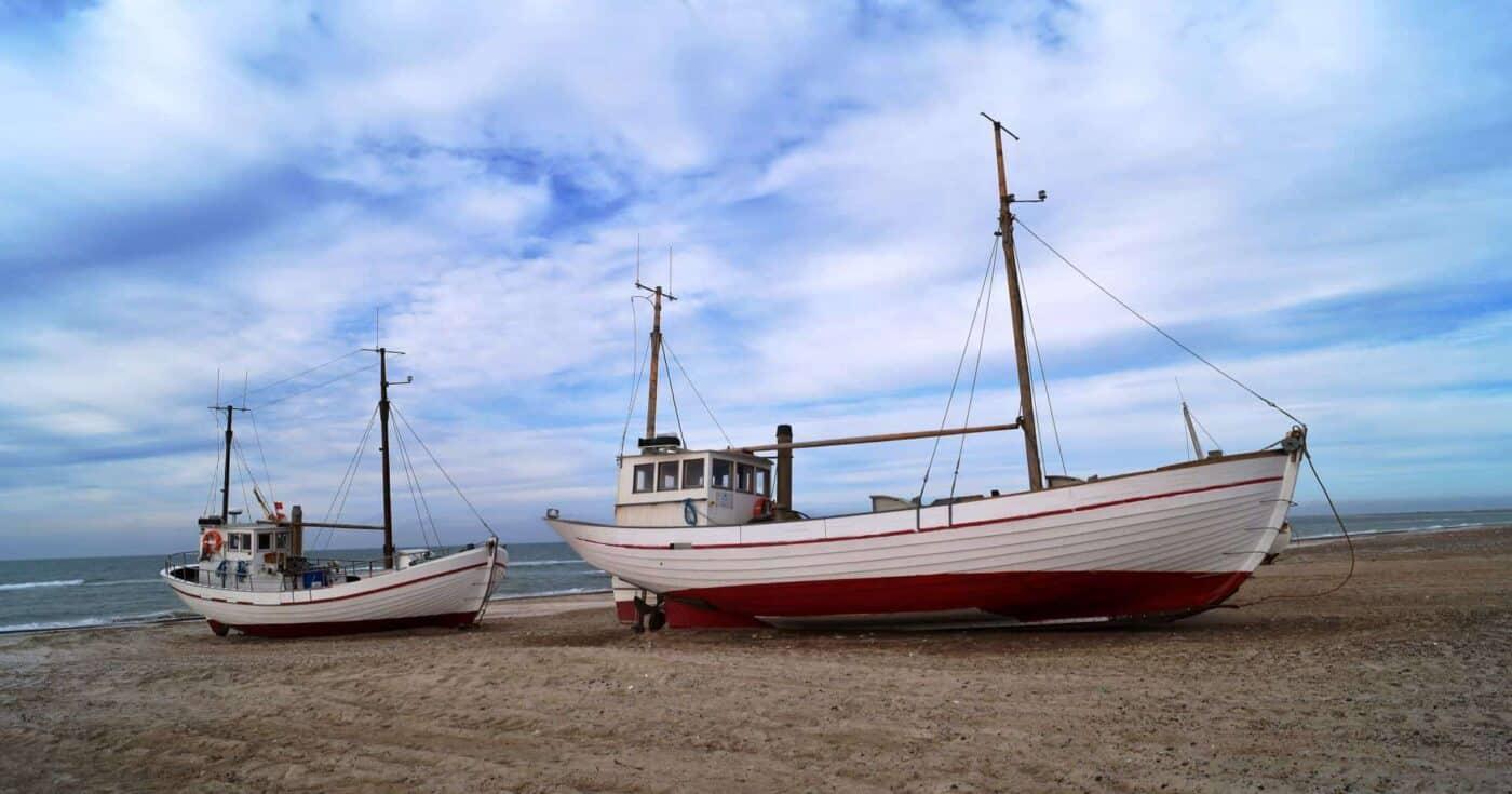 Fishing boats in Slettestrand