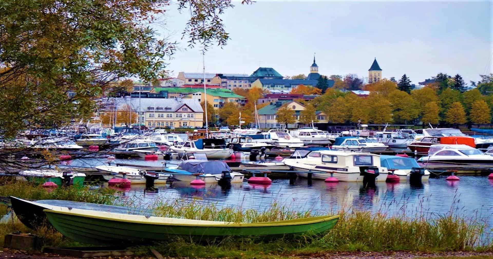 Harbour in Lappeenranta featured