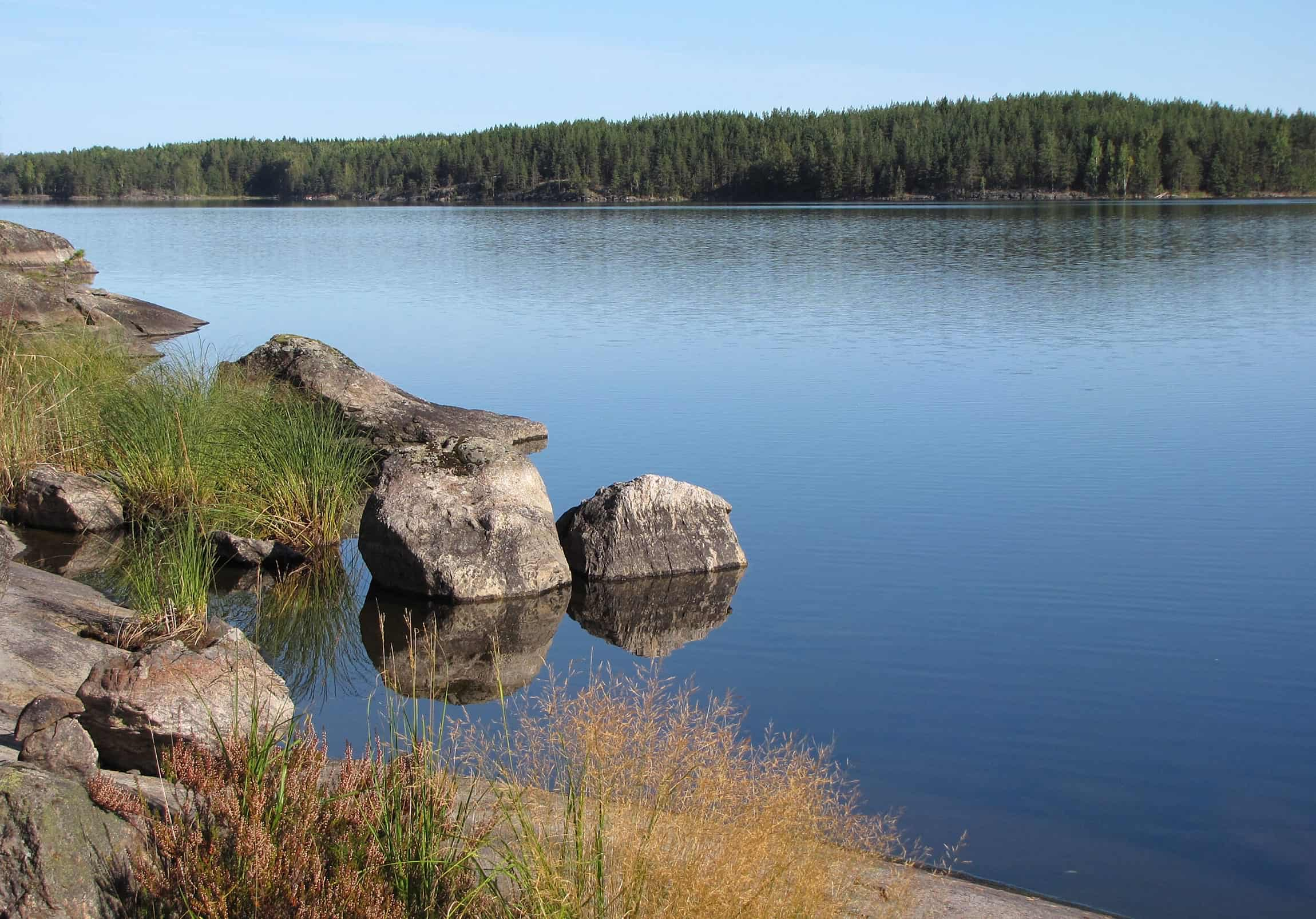 rocky shores of Lake Saimaa