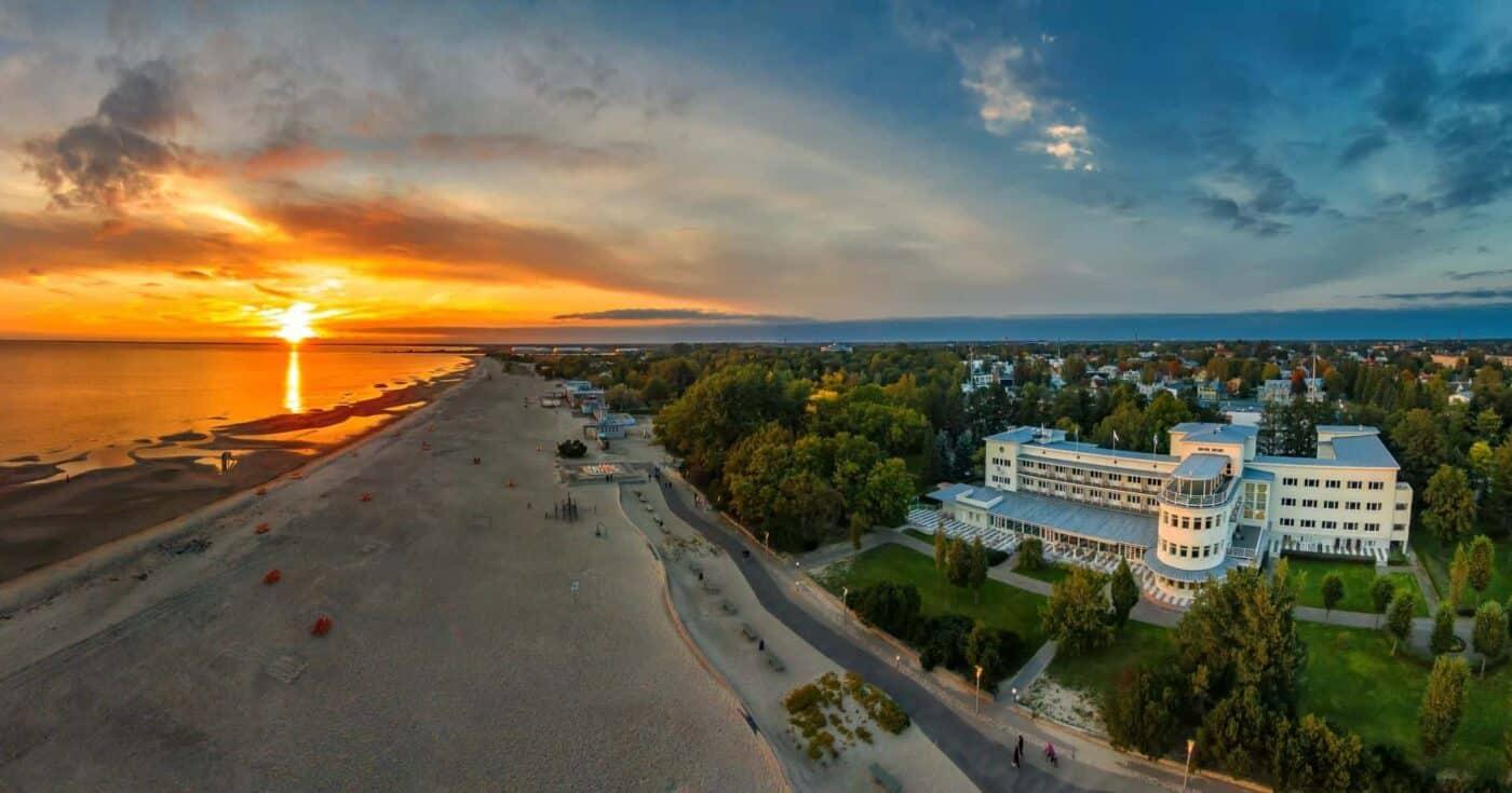 Sunset in Pärnu beach