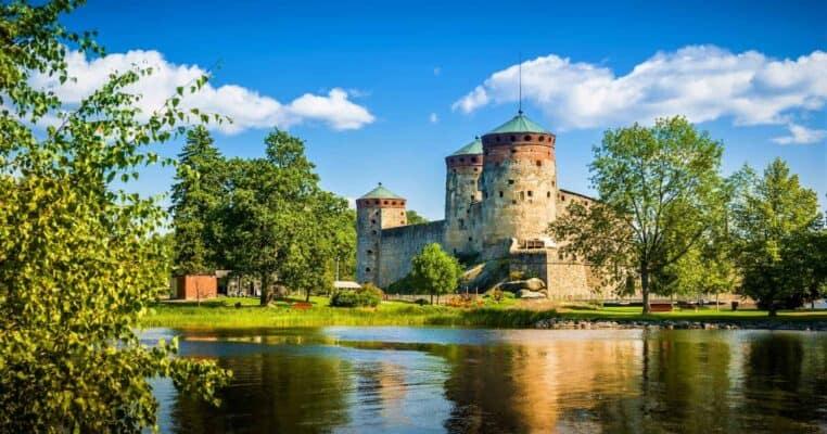 Olavinlinna fortress in Savonlinna center Finland