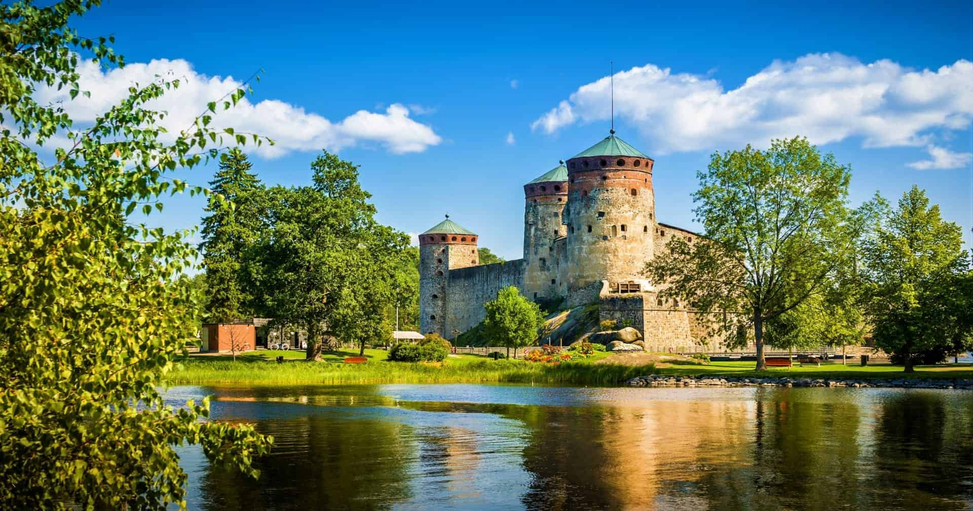 Olavinlinna fortress in Savonlinna center Finland