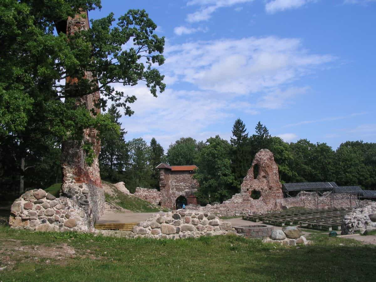 castle ruins of Viljandi